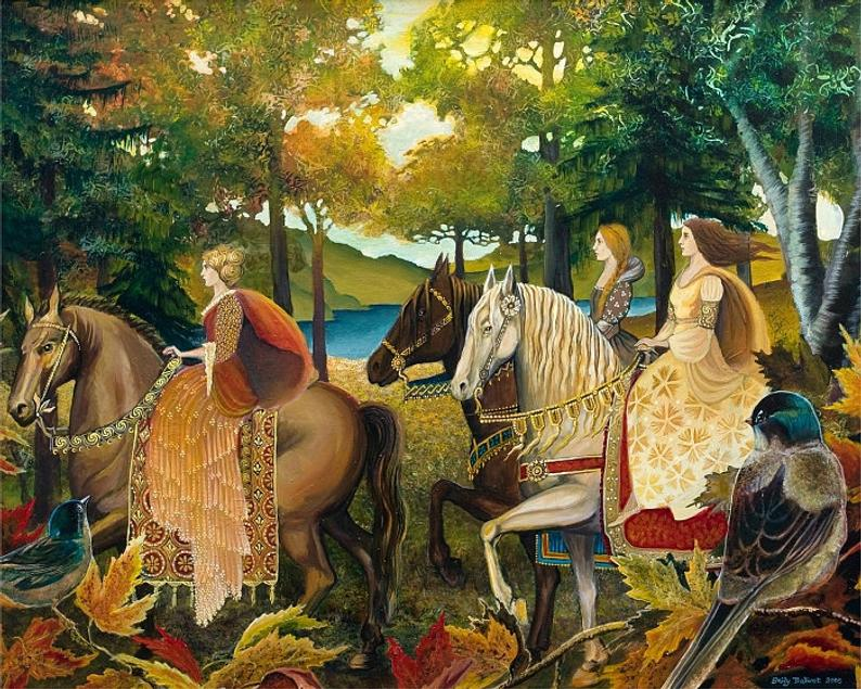 Autumn Riders by artist Emily Balivet