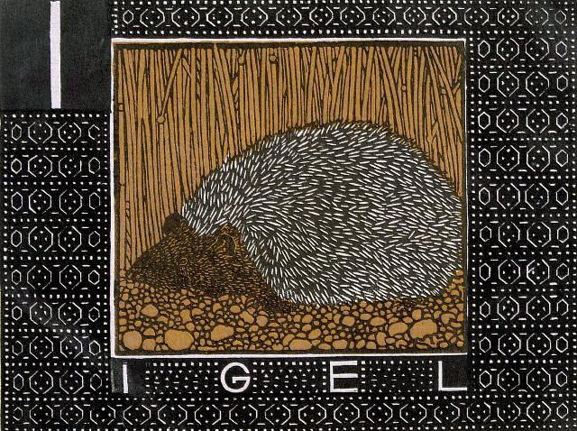 I is for Igel (the German word for hedgehog)