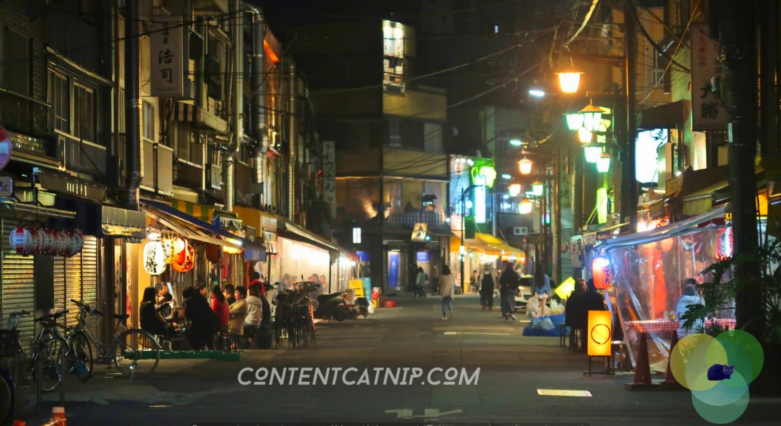 Asakusa, Tokyo by Night. Copyright © Content Catnip 2018 www.contentcatnip.com