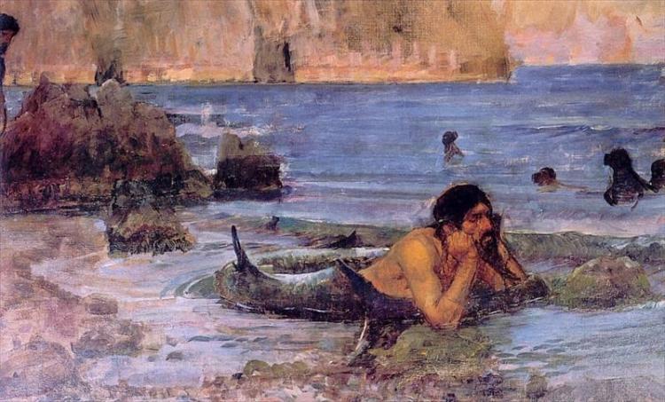 The Merman by John William Waterhouse