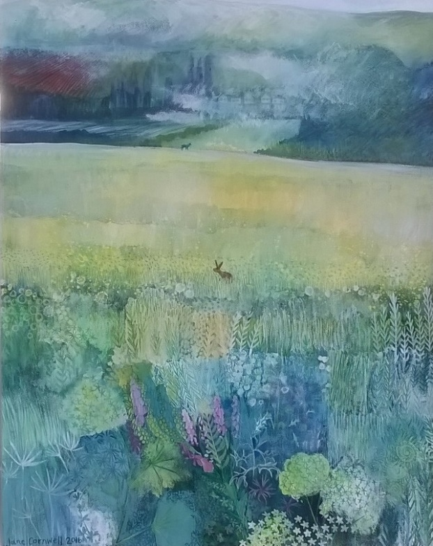 Campsie Fells from Red Moss Grasslands by Jane Cornwell https://www.etsy.com/uk/listing/784562173/commision-portrait-of-a-new-mum-and-her