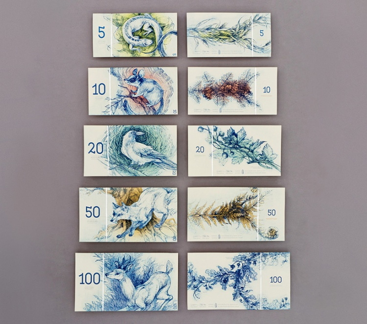 Hypothetical Banks Notes from Hungary Feature Woodland Animals