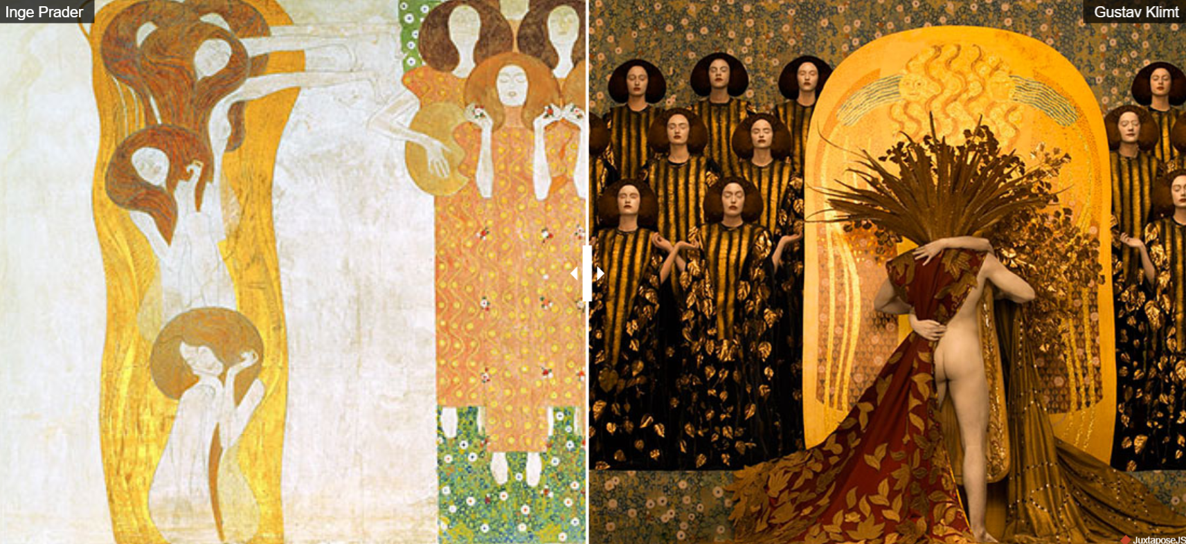 Try out these glittering interactive Gustav Klimt paintings
