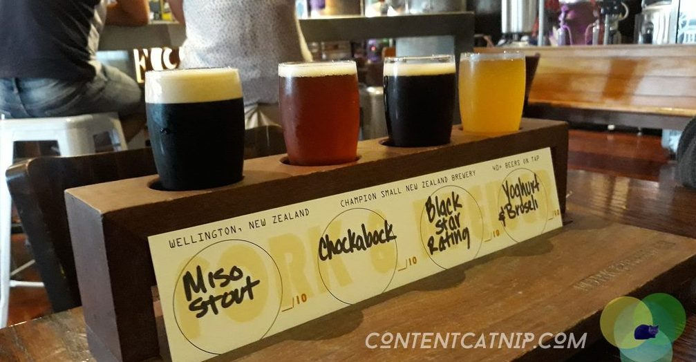 Many beer sampling and much taste-bud tantalising