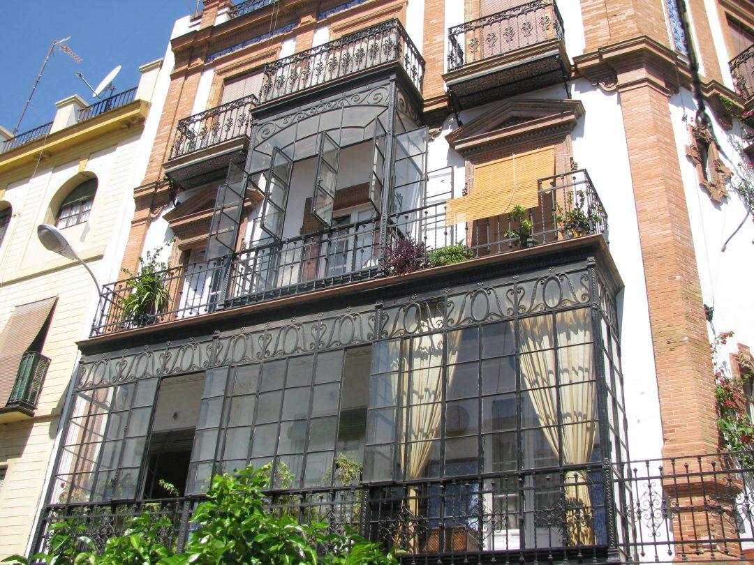 The terrace houses of Sevilla, Spain