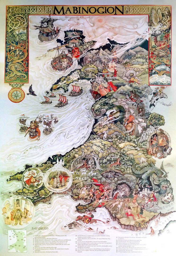 Beautiful maps & beautiful Welsh tales: The Mabinogion