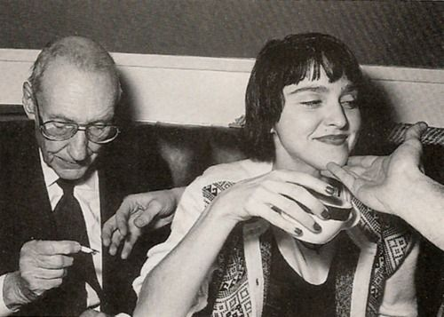Madonna and William S Burroughs at Studio 54