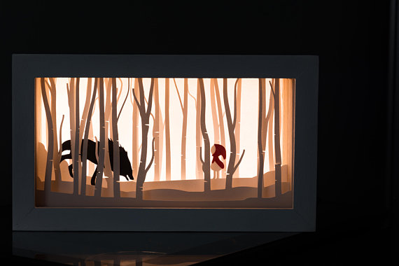 SHADOW BOX DI CAPPUCCETTO ROSSO BY CREATING MONKEY
