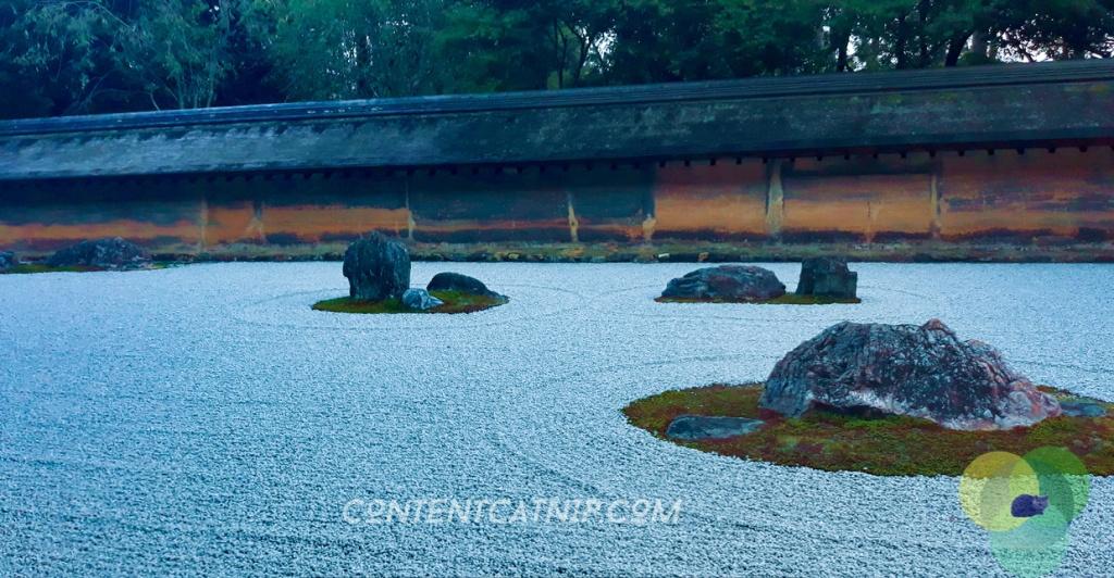 Ginkaku-Ji temple zen garden, Kyoto © Content Catnip 2018 www.contentcatnip.com