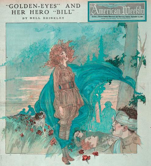 Exotic Ads of the Past: Golden Eyes and Her Hero Bill Over There