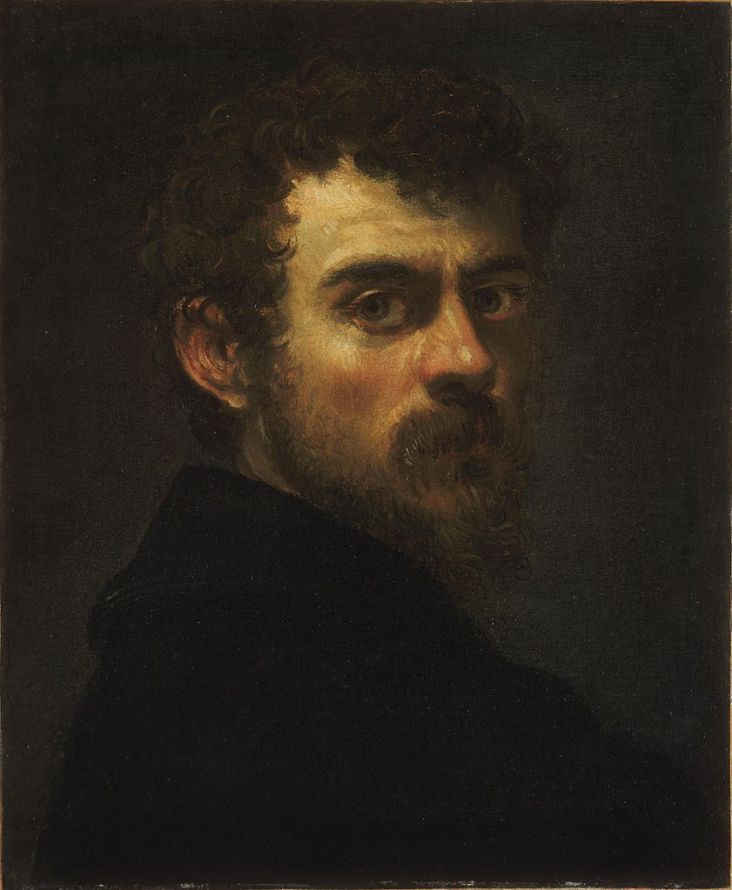 Self-portrait Detail by Tintoretto (1518- 1594) A great mannerist painter. His work did not show subjects idealized but with bad skin, watery eyes. He showed how the real can be oddly beautiful.