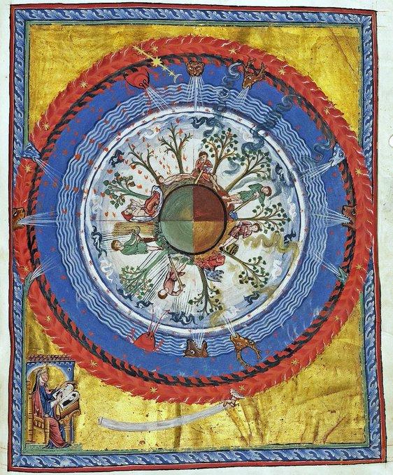 'Cultivating the cosmic tree' by Hildegard of Bingen (1098-1179)