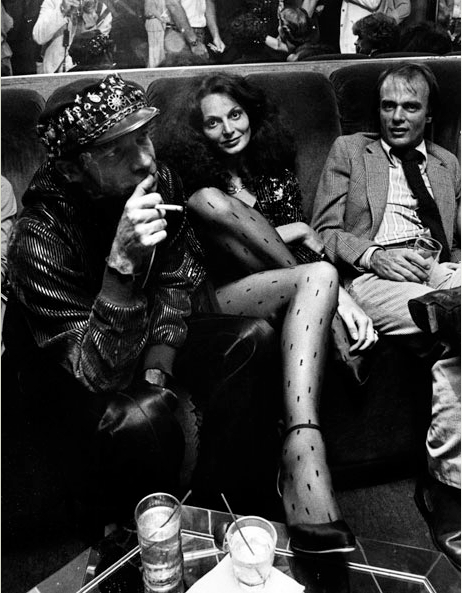 Diana Von Furstenberg and photographer Ara Gallant in Studio 54