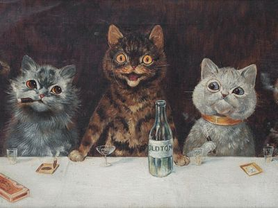 """Louis Wain """"The Bachelor Party"""" (1939)"""