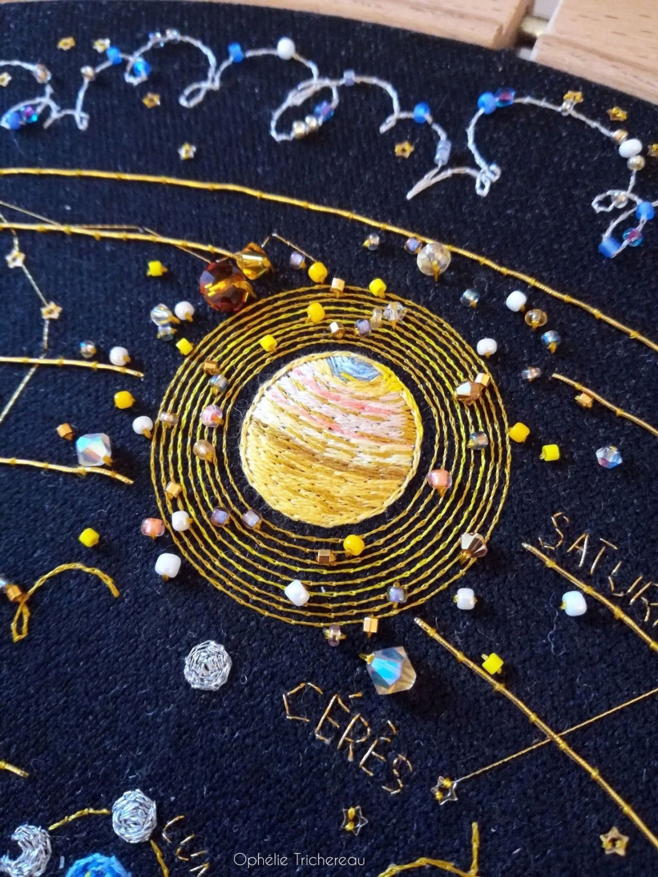 Woven Constellations and Embroidered Space by Ophelie Trichereau