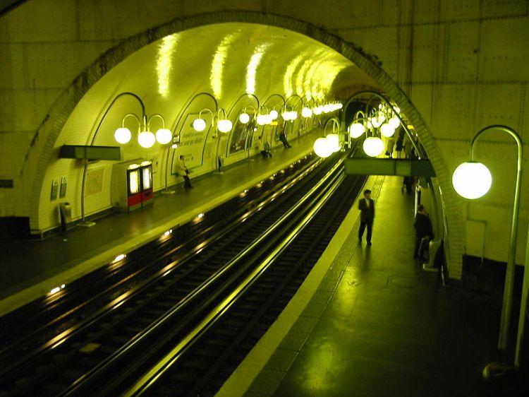 The Paris Metro By Night