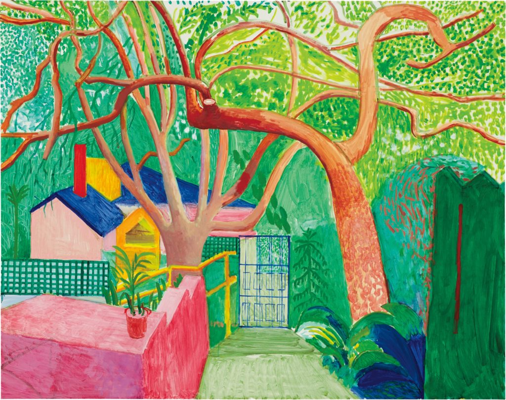 I love David Hockney's very careful accurate drawing style and quality of line