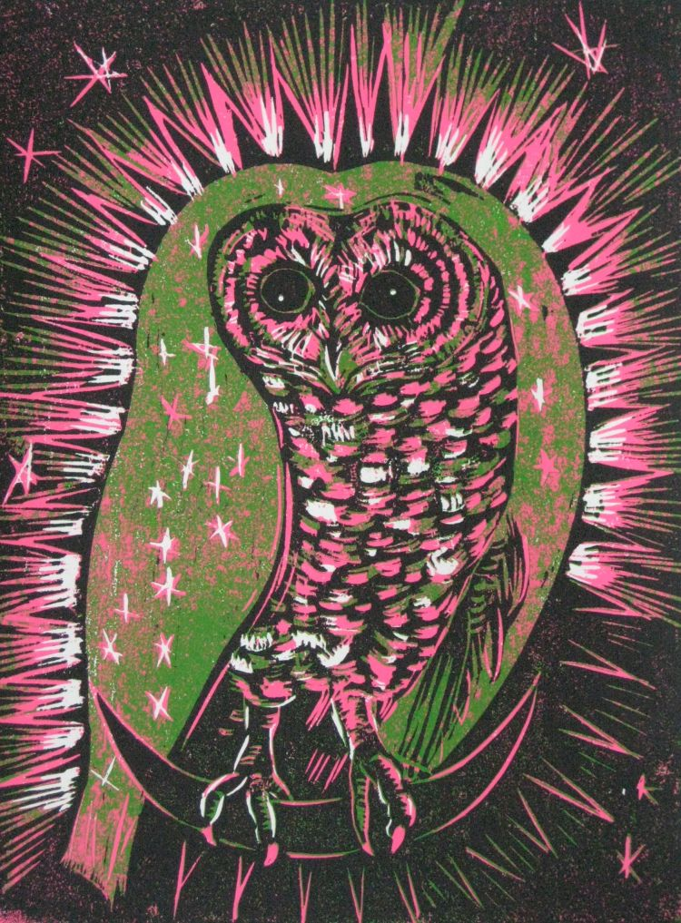 Owl Lady of Guadalupe' by Maria Strutz