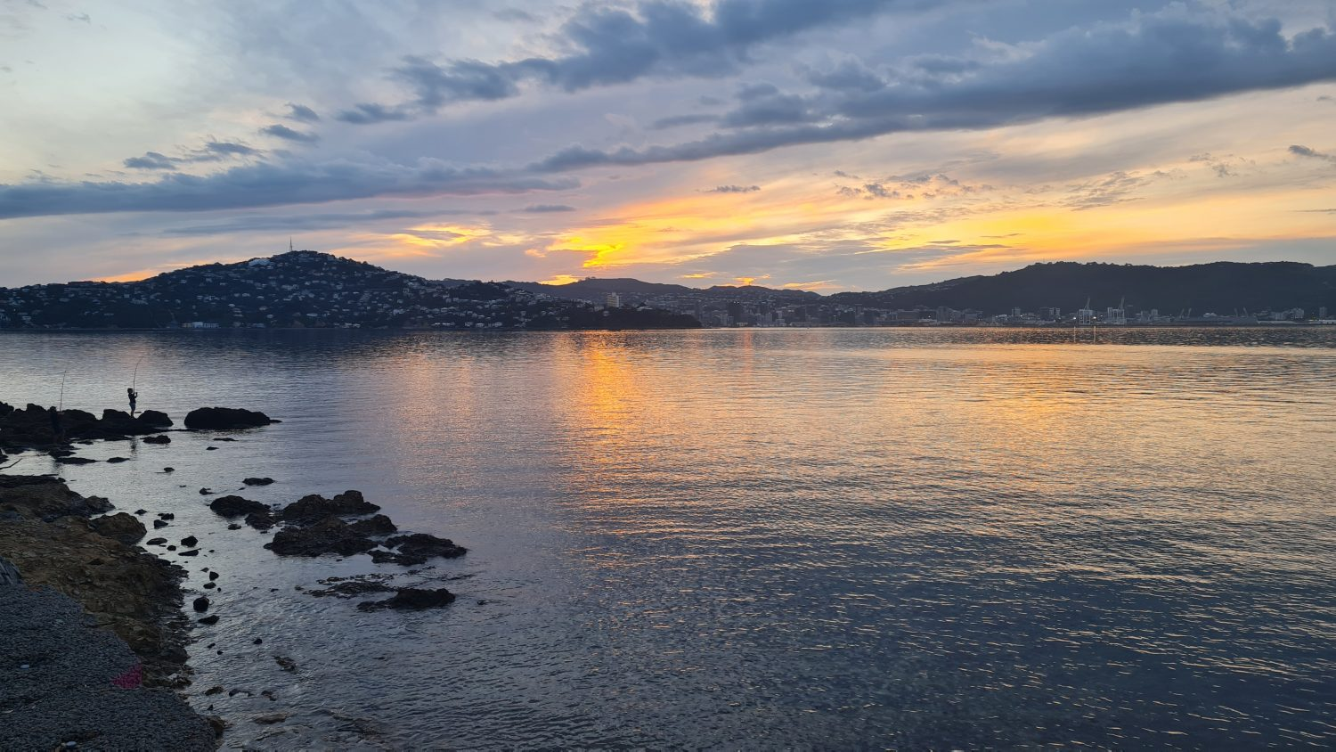 Wellington coast at dusk, copyright Content Catnip 2021