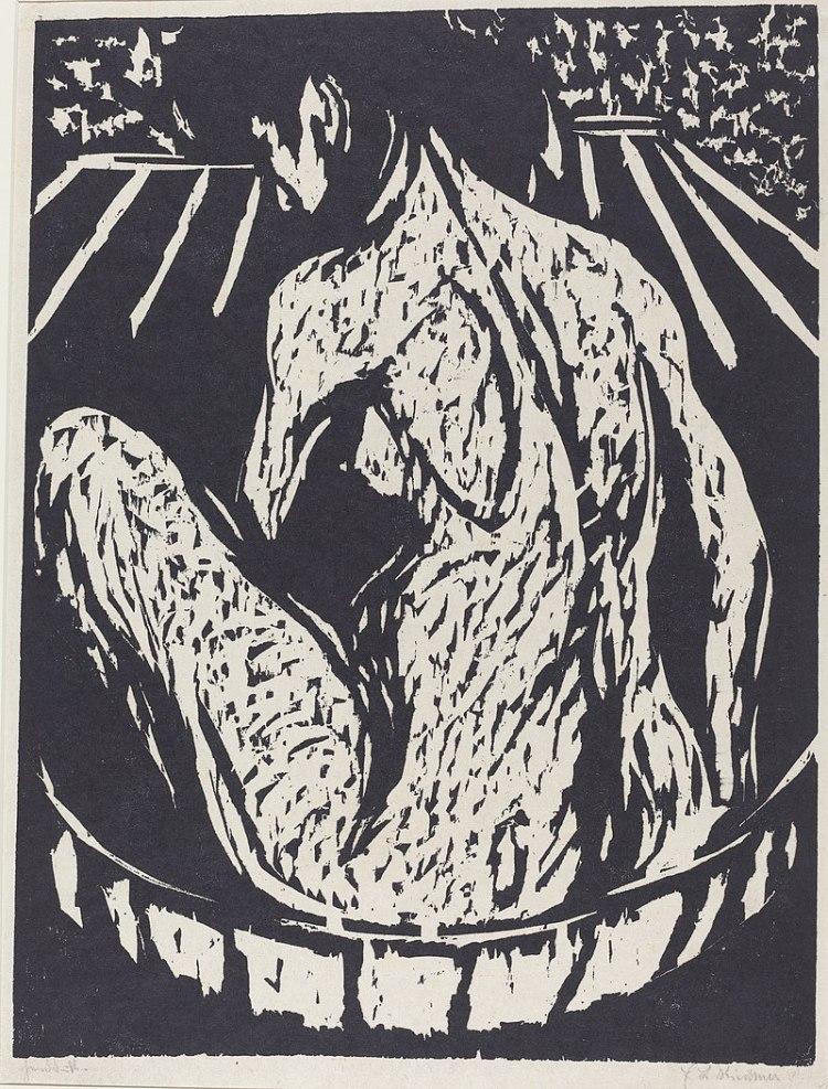 Ernst Ludwig Kirchner; Female Nude, 1908
