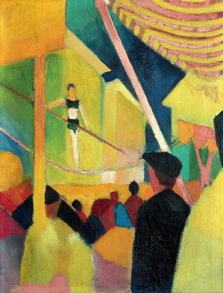 August Macke; Seiltänzerin/ Tightrope Walker, 1913