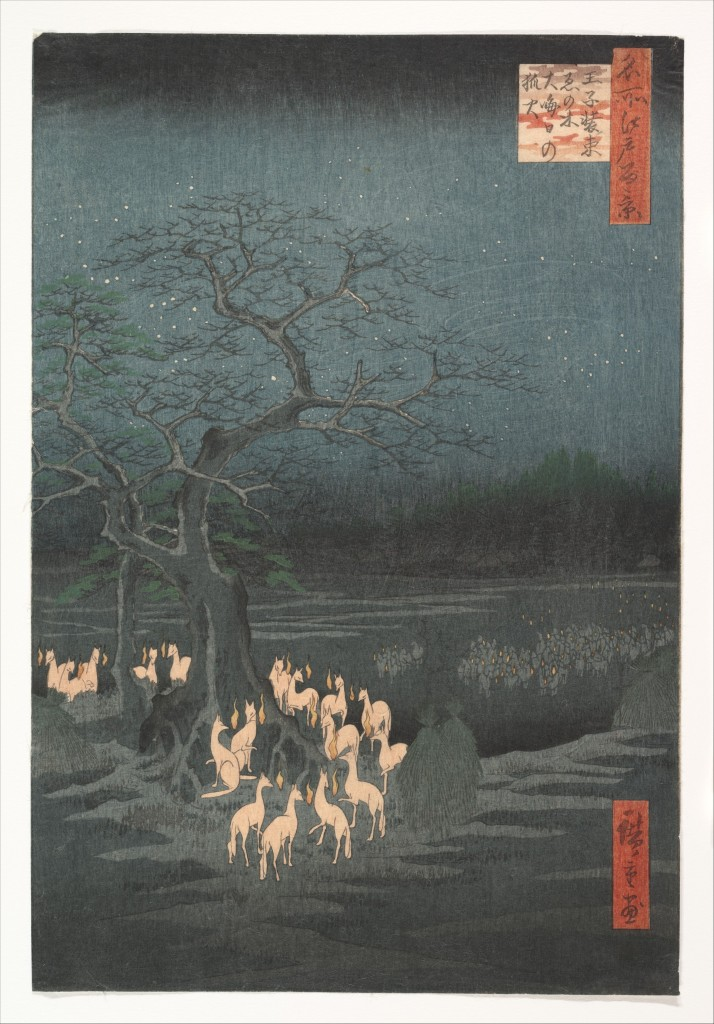 Hiroshige; New Year's Eve Foxfires at the Changing Tree (around 1857)