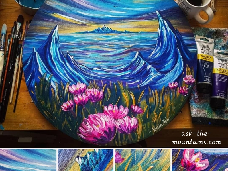 """""""Valley flowers"""" 50 cm by Monica Olivia"""