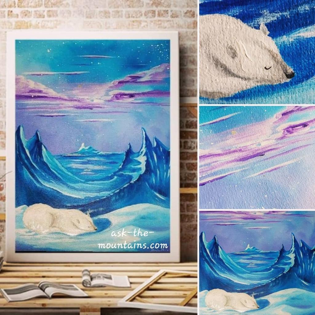 """Dvale"" (Hibernation) 32 x 24 cm by Monica Olivia"