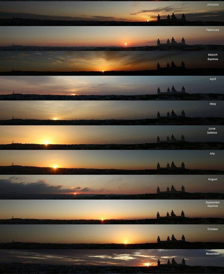 The movement of the sun on the horizon throughout the year is pure poetry