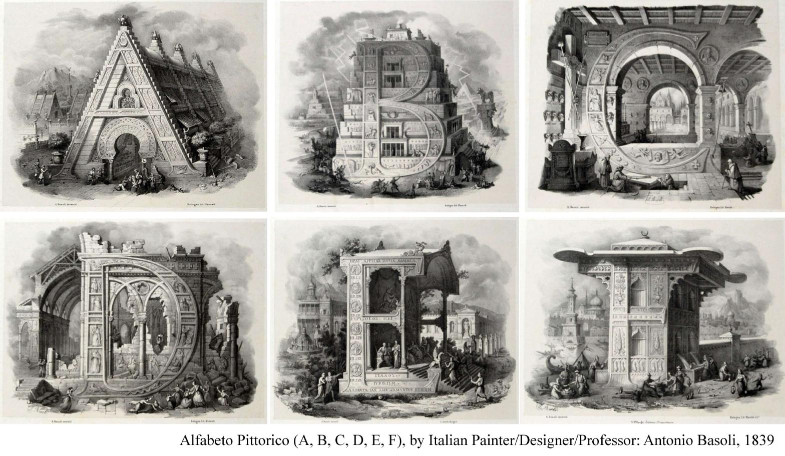 Alfabeto Pittorico: A curious alphabet of splendid architecture