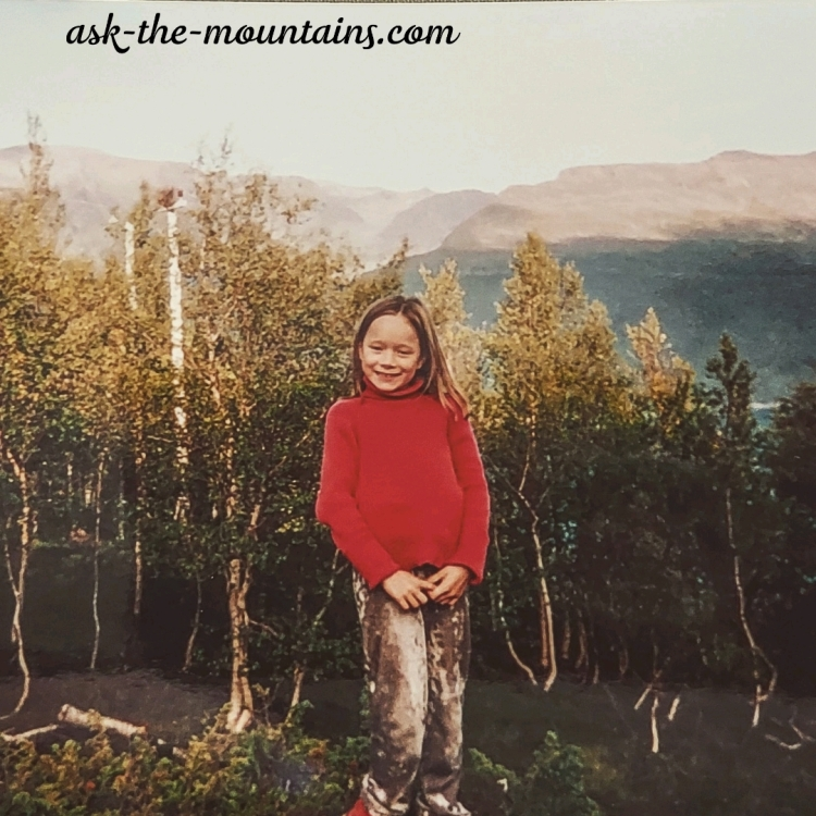 Me as a kid, 9 years old. I have always loved the woods, I feel lucky to live close to it. Here in Kåfjord, Troms.