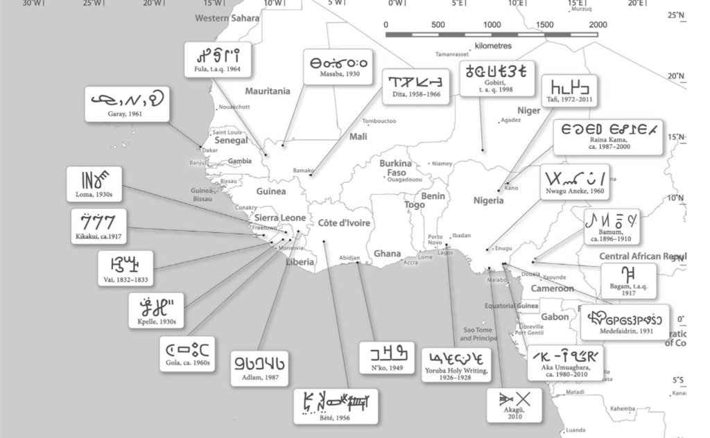 Scripts and indigenous written languages from across West Africa