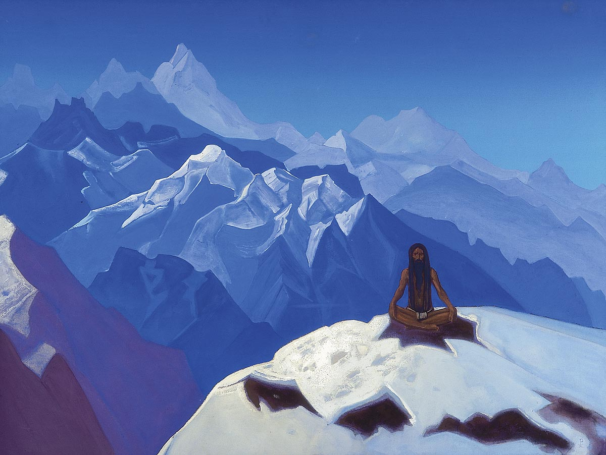"""""""On the heights, (Tummo)"""", 1936 by Nicholas Roerich"""
