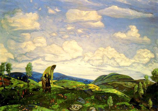 """St. Panteleimon the Healer"", 1916 by Nicholas Roerich"
