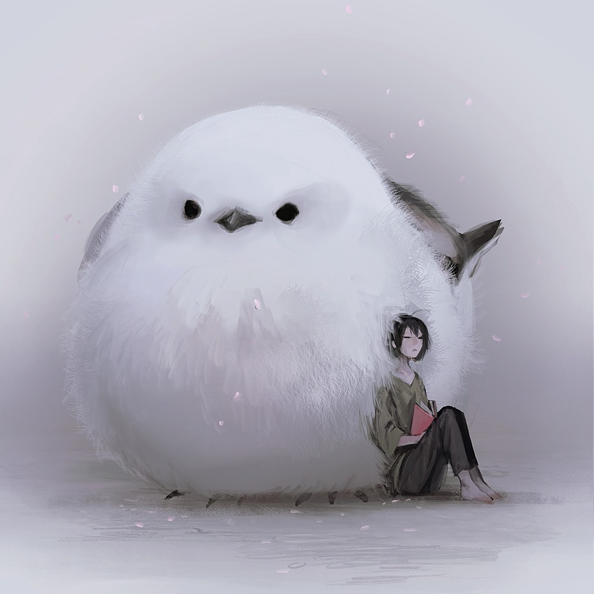 Jumbo sized animal familiars and their cuddle potential by MonoKubo