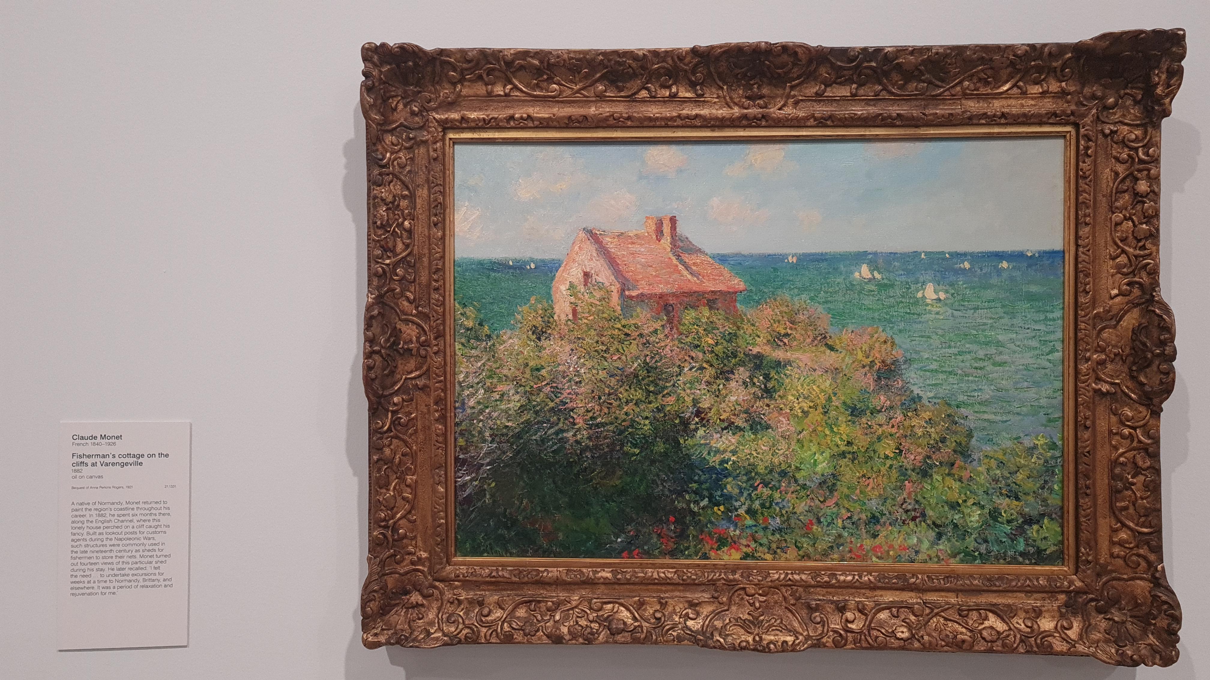 Fisherman's Cottage on the Cliffs in Varengeville by Claude Monet, Content Catnip